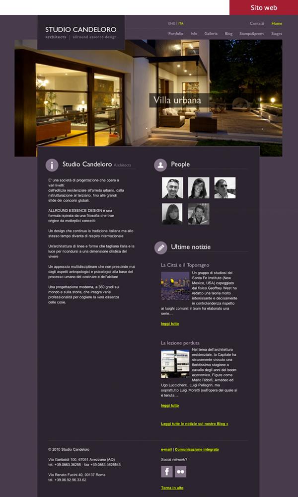 Studio candeloro - sito web