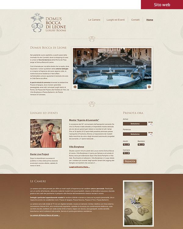 Domus Bocca di Leone - Sito web