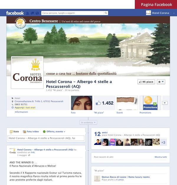 Hotel Corona - Pagina Facebook