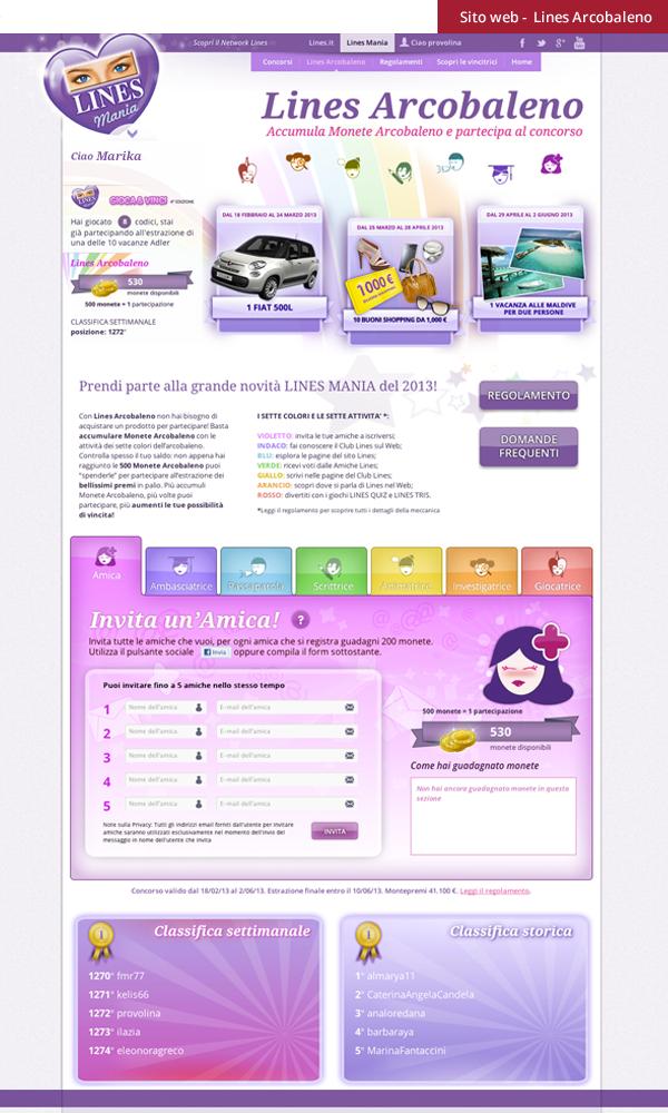 Lines Mania - web design UX design