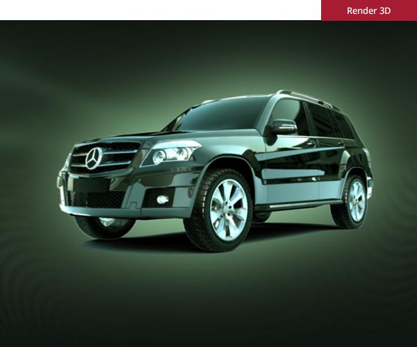 Mercedes - Render 3D