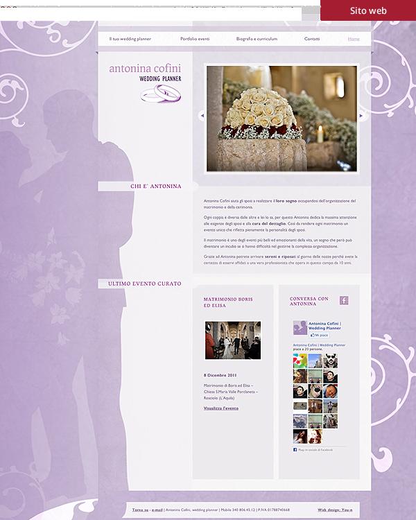 Nina eventi - Sito web