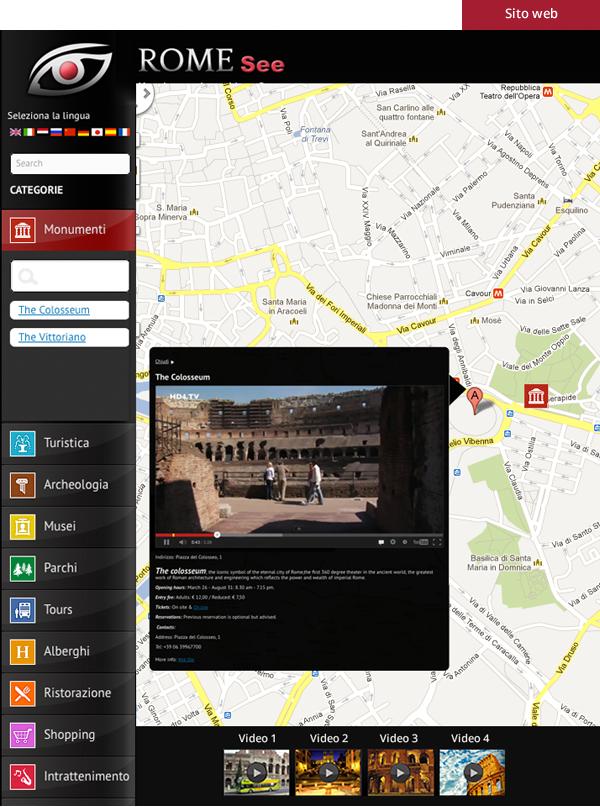 Rome See - Interfaccia grafica