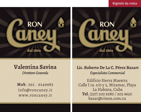 Ron Caney - biglietti da visita