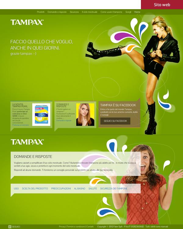 Tampax - Sito web