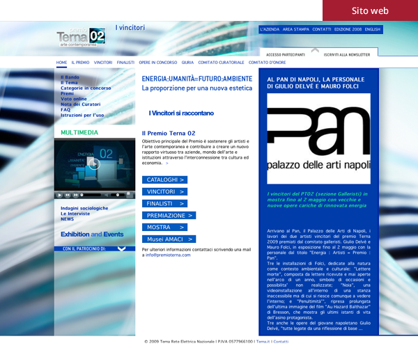 Terna 02 - Sito web