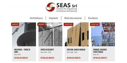 SEAS realizzazione sito web