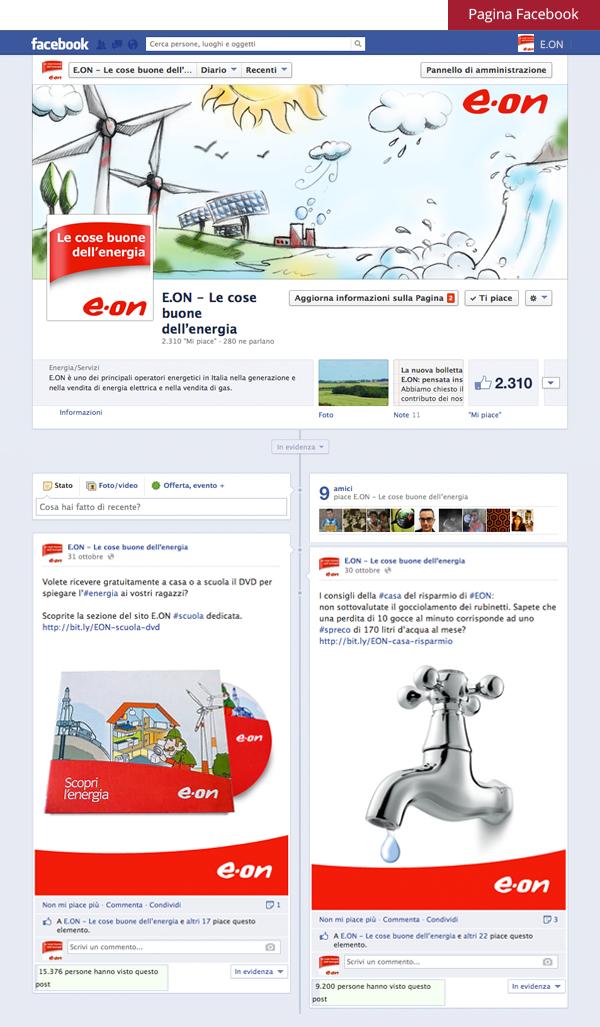 Pagina Facebook E.ON Italia