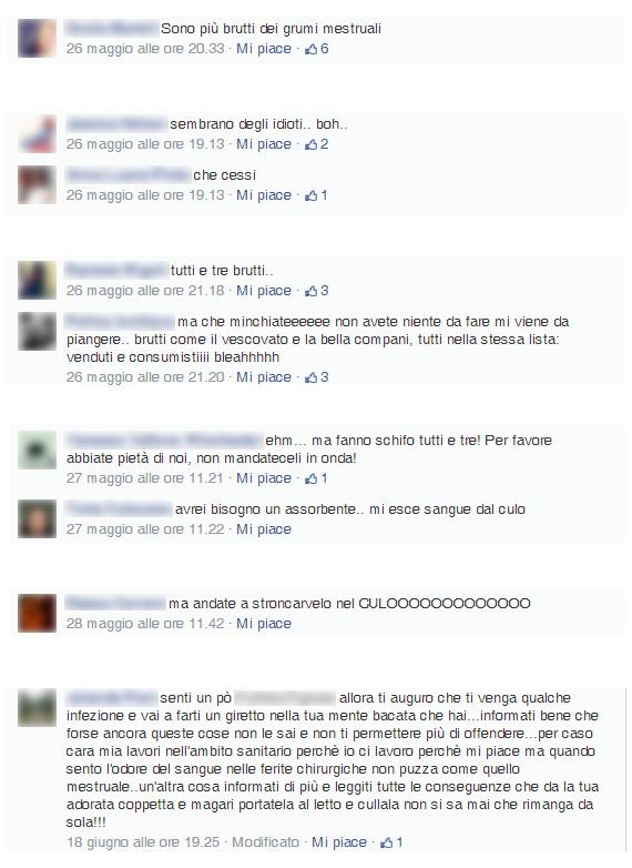 commenti negativi ad un brand pubblicizzato su Facebook