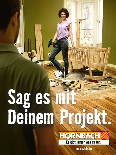 Cartellone pubblicitario Hornbach
