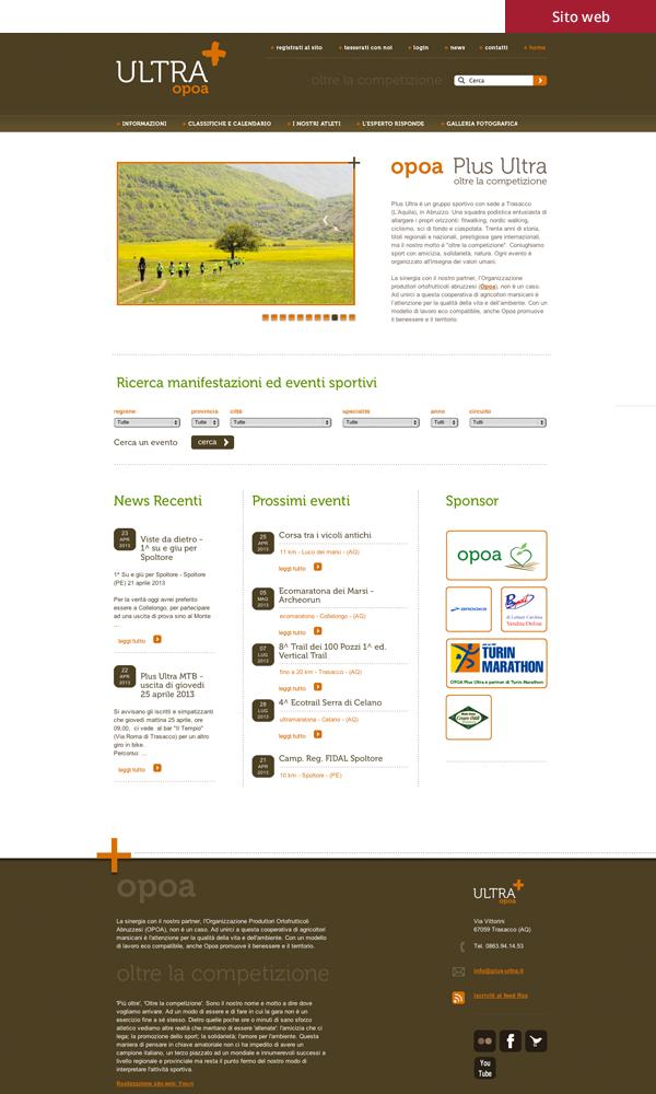 Opoa - Sito web immagine coordinata