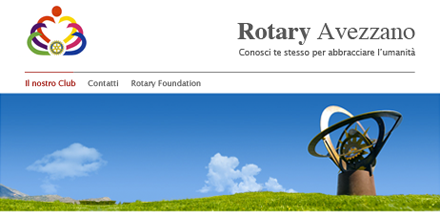 Rotary Avezzano, restyling sito web