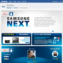 Samsung Next web design