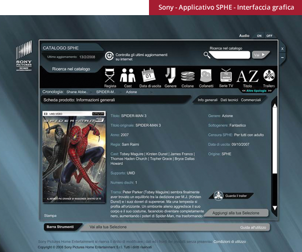 Sony pictures - interfaccia applicativo